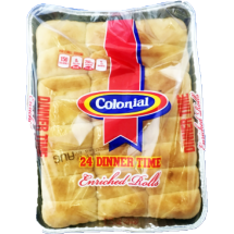 Colonial Enriched Dinner Rolls, 24 ct