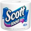 Scott White 1000 Sheets Per Roll 1-Ply Unscented Bathroom Tissue, 1 ct