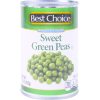 Best Choice Sweet Green Peas, 15 oz