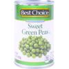 Best Choice Sweet Green Peas, 15 oz