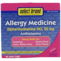 Food Outlet - Select Brand Allergy Medicine Diphenhydramine
