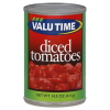 Valu Time Diced Tomatoes, 14.5 oz