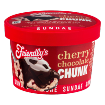 Friendly's Cherry Chocolate Chunk Ice Cream, 6 fl oz