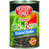 Western Family Premium Black Beans Reduced Sodium, 15 oz