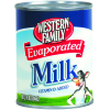 Western Family Evaporated Milk, 12 fl oz
