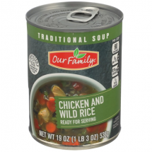 OUR FAMILY TRADITIONAL CHICKEN WILD RICE 19 OZ