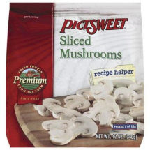 Pictsweet Sliced Mushrooms, 12 oz