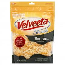 Velveeta Shredded Mexican Style Cheddar Blend, 8 oz