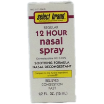Select Brand 12 Hour Nasal Spray, 1/2 fl oz