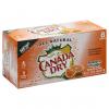 Canada Dry Sparkling Seltzer Water Mandarin Orange Flavor, 8 ct