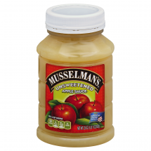 Musselman's Natural Unsweetened No Sugar Added Apple Sauce, 23 oz