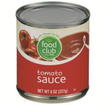 Food Club Tomato Sauce, 8 oz