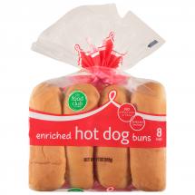 Food Club Hot Dog Buns, 8 ct