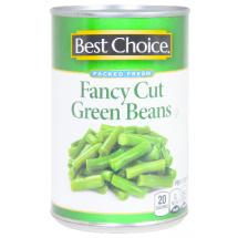 Best Choice Fancy Cut Green Beans, 15 oz