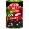 Western Family California Ripe Medium Pitted Olives, 6 oz