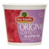 Our Family Original Lowfat Raspberry Yogurt, 6 oz