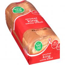 Food Club King White Bread, 20 oz