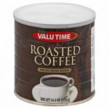 Valu Time Roasted Coffee, 34.5 oz