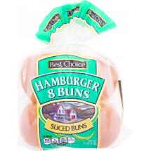 Best Choice Hamburger Buns, 8 ct