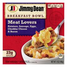 Jimmy Dean Meat Lovers Breakfast Bowls, 7 oz