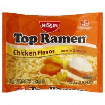 Nissin Top Ramen Noodle Soup Chicken Flavor 3oz