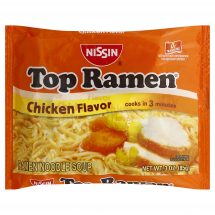 Top Ramen Chicken Flavor Ramen Noodles, 3.0 oz