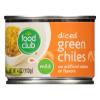 Food Club Diced Green Chilies, 4 oz