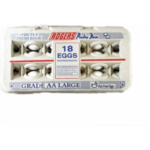 Rogers Poultry Farm 18 Eggs Grade AA Large, 18 ct