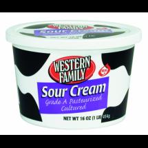 Western Family Sour Cream, 16 oz