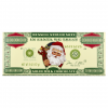 Russell Stover Solid Milk Chocolate 1000000000 Christmas Note Chocolate Bar, 2 oz