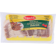Sugardale Thick Sliced Applewood Smoked Thick Sliced Bacon, 12 oz