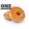 Glazed Raised Donuts, One Dozen