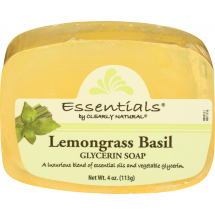 Clearly Natural Essentials Lemongrass Basil Glycerine Soap, 4 oz