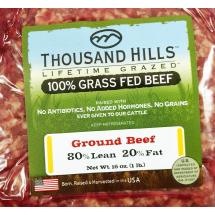 Thousand Hills Grass Fed Ground Beef, 16 oz