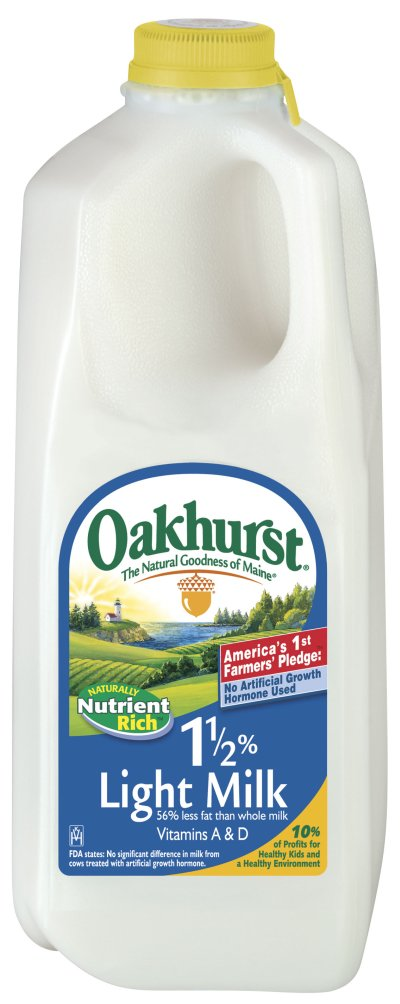 Oakhurst, 1 1/2% Light Milk, 1 ct