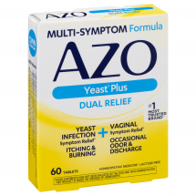 Azo Azo Yeast Plus Multi-benefit Homeopathic Medicine Tablets, 60 ct