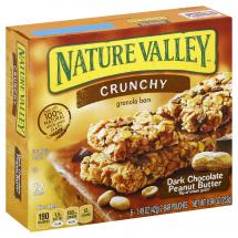 Nature Valley Dark Chocolate Peanut Butter Crunchy Granola Bars, 1.49 oz, 12 ct