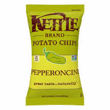 Kettle Brand Potato Chips Pepperoncini, 5.0 oz