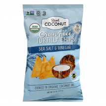 The Real Coconut Coconut Flour Tortilla Chips, 5.5 oz