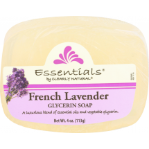 Clearly Natural Essentials French Lavender Glycerine Soap, 4 oz
