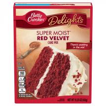 Betty Crocker Super Moist Red Velvet Cake Mix, 15.25 oz