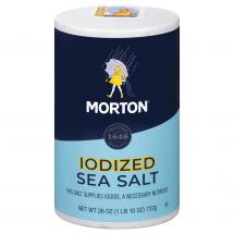 Morton Iodized Sea Salt, 26 oz