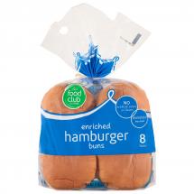 Food Club Hamburger Buns, 8 ct