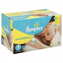 Pampers Swaddlers Size 1 Sesame Beginnings Diapers, 100 ct