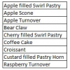 Angelina's Pastry (Specify which item according to chart in item notes)