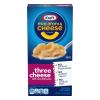 Kraft Macaroni and Cheese Mini-Shell Pasta Three Cheese, 7.25 oz
